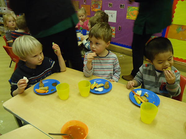Chinese New Year food at Acorns Nursery School, Cirencester.
