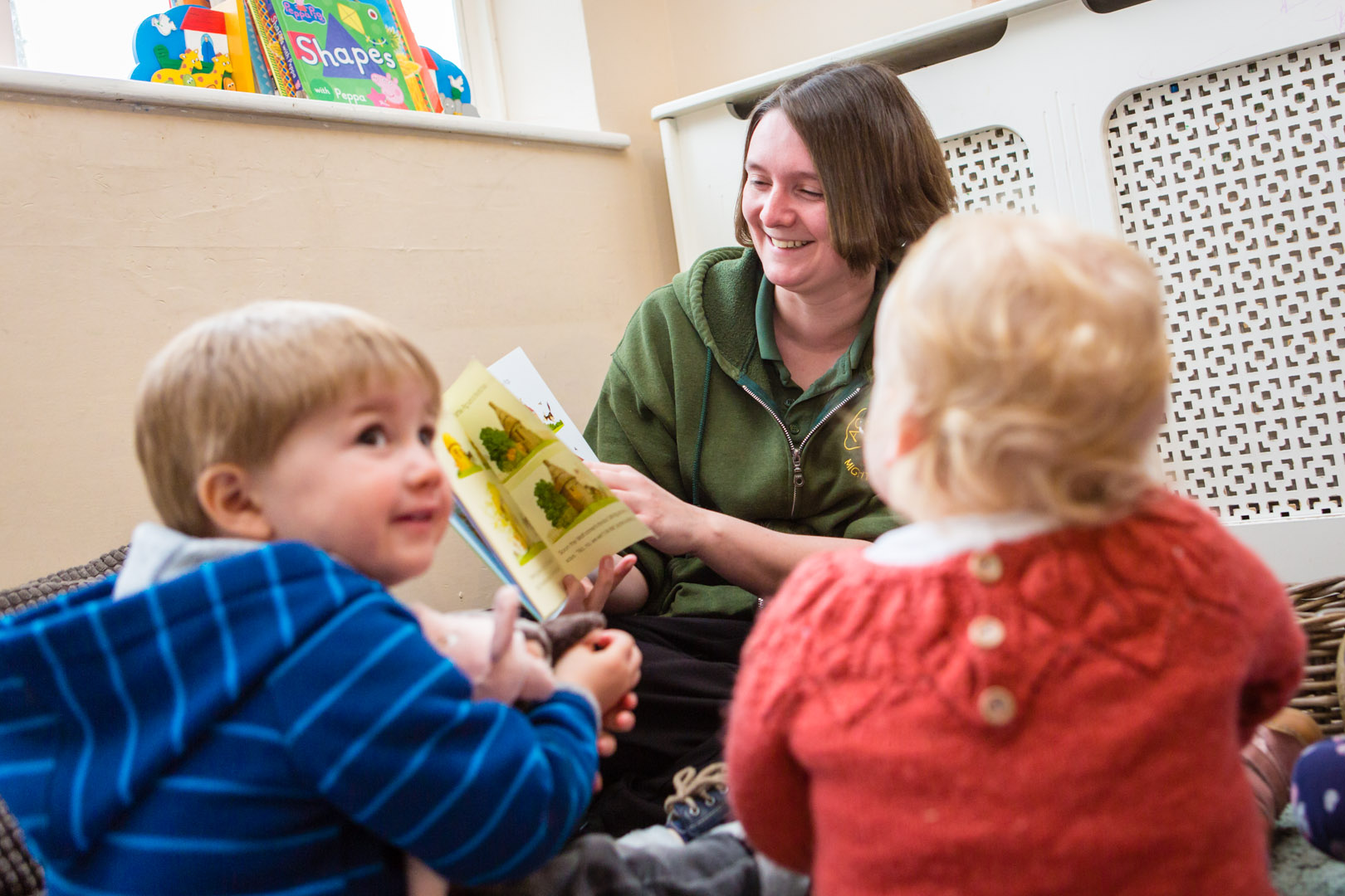 Story time for some of the toddlers at Acorns Nursery School Cirencester
