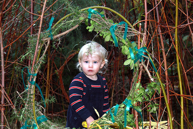 The Willow House in the garden at Acorns Nursery School Cirencester