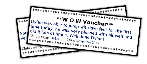 Wow voucher example